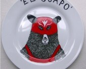 Side Plate - Hand Painted -The Handsome One