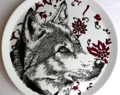 Wolf - Hand Drawn Serving Plate