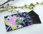 Navy Floral Business Card Holder/ Small Wallet