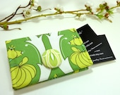 Fern Passion Lily Business Card Holder/ Small Wallet