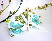 Jewelry Roll | Design Your Own Travel Accessory for Her | Custom Bridesmaid Gift | Plum & Aqua Aviary Fabric Collection | Damask Dill