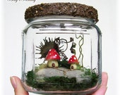 Fantasy Moss Terrarium - Toadstool Fairy Village