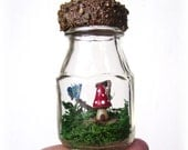 Betty's Fantasy Miniature Moss Terrarium - Tiny Fairy House - ON SALE