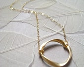 Eternal Love Ring Necklace (in Gold)