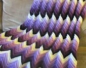 Crochet Afgan, Orchad, a fade of the color purple, Made to order...