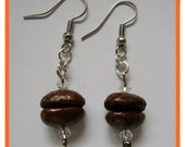 COLD RAIN - HaNdMaDe EaRRiNgS WiTh ReaL CoFFee BeAnS
