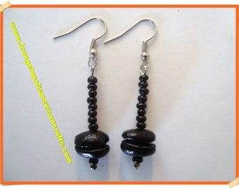 BLACK MAGNETIC - HaNdMaDe EaRRiNgS WiTh ReaL CoFFee BeAnS