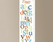 Alphabet Canvas Growth Chart - 8 Color Options - FREE Personalization
