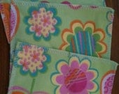 Flower Print Family Cloth/Cloth Wipes