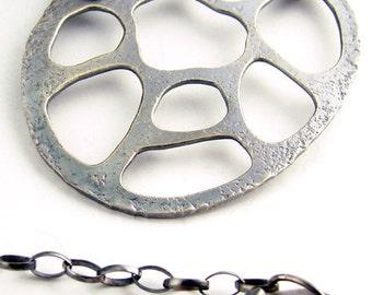 Net Silver Pendant