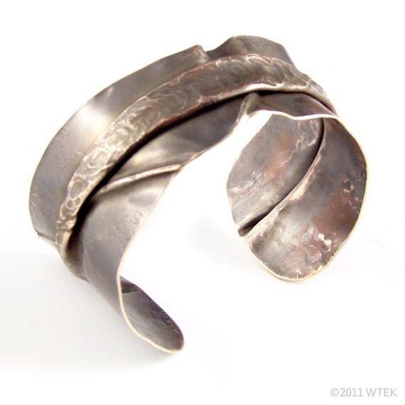 Skinny Fold Formed Brass Cuff
