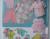 SIMPLY BABY Simplicity 3711Sewing Pattern for Babies' Layette Set (Size A XXS, XS, S, M, L)