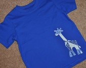 Giraffe Applique Shirt for your Baby, Toddler or Child.  (YOU pick size and color combo)