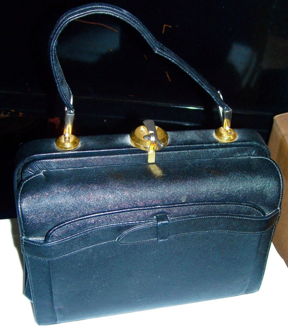 50s Rosenthal Leather Doctor's bag Purse