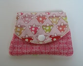 Mini Wallet / Card Holder - Pink Toadstools - SLIGHT SECOND