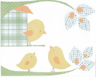 Yellow Birdie Collage 8x10 Print