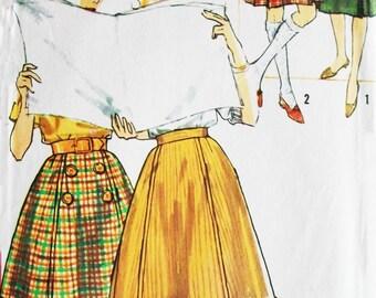 1960s Simplicity Sewing Pattern 4109, Waist 26, Hip 36, Bandstand Skirt, Kilt