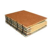 Wedding Guest Book  with Rustic Tan Textured Paper