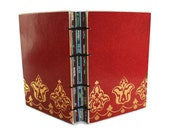 Red Journal with Gold Foiled Paper and Coptic Binding