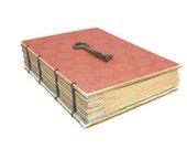 Stunning Peach Journal with Vintage Skeleton Key