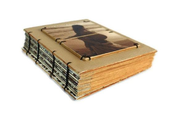 Expecting Handmade Journal, Maternity book, Handmade coptic journal