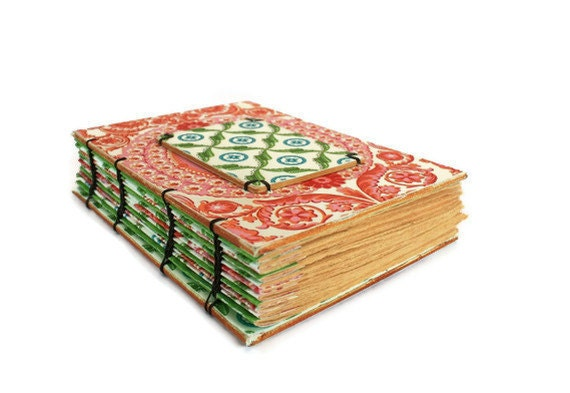Party Time Handmade Journal with Decorative Wooden Board
