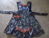 Halloween Spiderweb Bib Apron- Retro