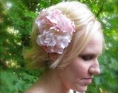 Pale Pink Peony Wedding Hair Flower Clip