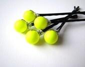 Neon Yellow Hair Pin Set
