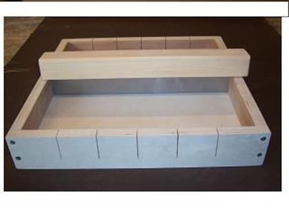 Wooden Soap Making Mold 24 bars Steel Knife