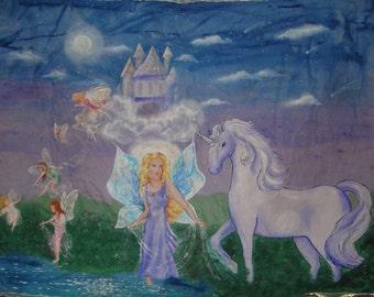 Fairy Princess Emma and Chloe, Her Unicorn