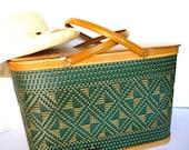 Picnic Basket Vintage Set Summer Food Hamper from AllieEtCie
