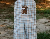 JonJon or Longalls For Boys with Puppy Applique Newborn-5T