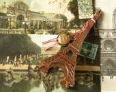 Honeymoon in Paris eiffel tower and antique postcards