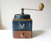 vintage coffee grinder moulin a cafe blue coffee mill
