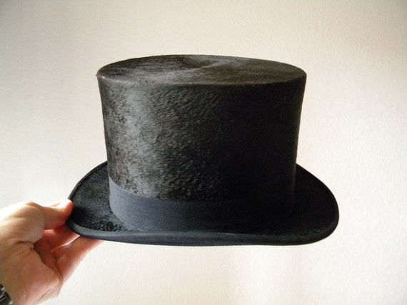 french top hat 1920s black french top hat