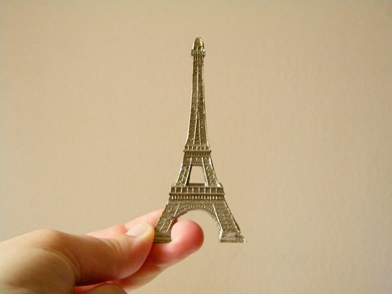 small french eiffel tower souvenir vintage