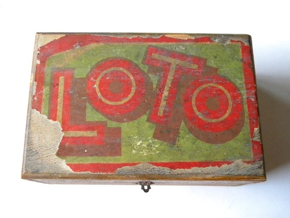 vintage french lotto box