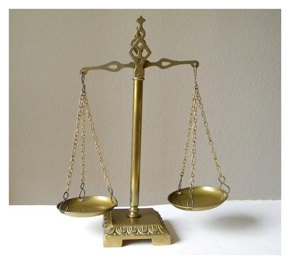 vintage metal weighing scales