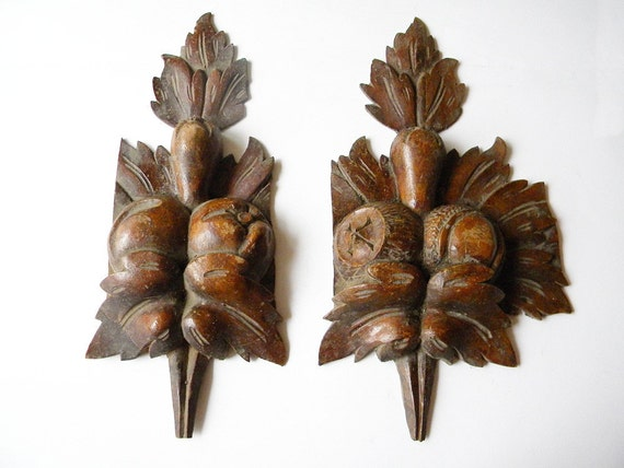 antique french carvings wooden salvage pieces