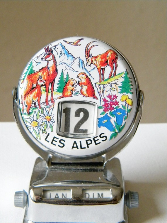 vintage desktop calender french perpetual flip calendar