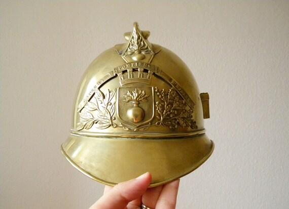 antique french fireman's helmet