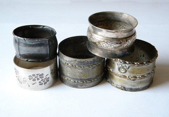 french napkin rings 5 vintage and antique napkin rings