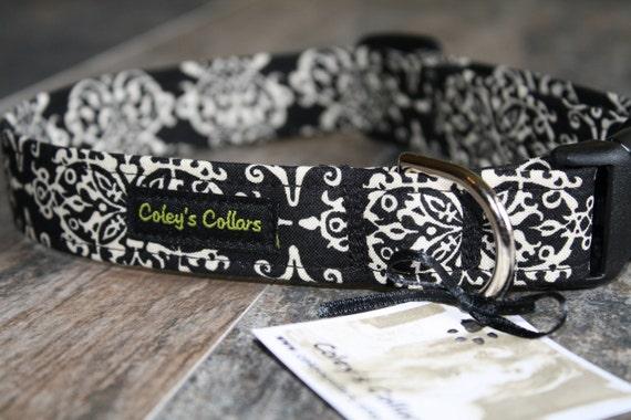 """Dog Collar  """"Lace Damask"""""""