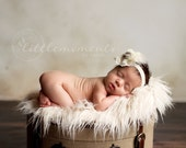 Off White Curly Mongolian Faux Fur, Baby Boy Fur, Faux Fur Blanket, Baby Girl Fur, Newborn photo prop, Basket stuffer, RTS, Baby Props