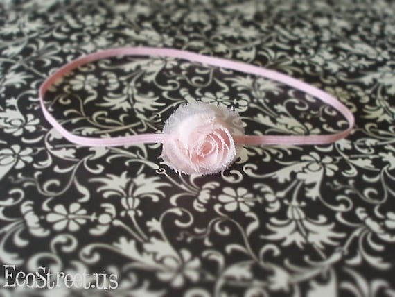 Light Pink Rose Newborn Headband, Great for Photo Prop