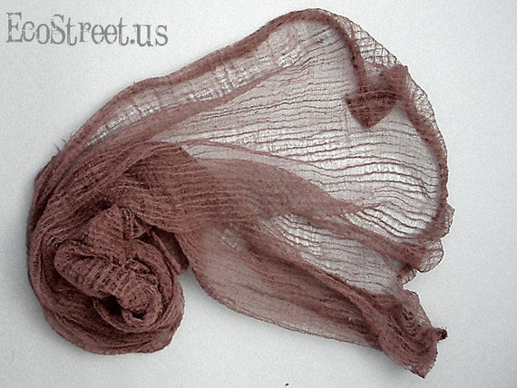 Hand Dyed Coco Brown Cheese Cloth Newborn Baby Girl or Boy Cocoon Wrap, Great for Photo Prop