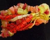 Tutti Frutti Free Form Peyote Bracelet