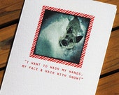 Cute Christmas Card - White Christmas Dog Card
