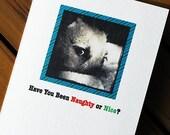 Christmas Card Dog Naughty or Nice